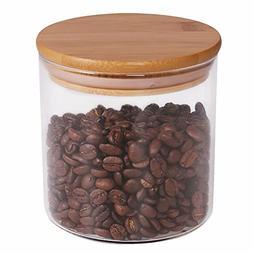 Food Storage Jar, 18.6 FL OZ , 77L Glass Food Storage Jar wi