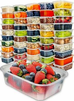 Food Storage Plastic Containers with Lids Disposable Freezer