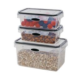 Food Storage 6 Piece Set Rectangular Plastic Container, Micr