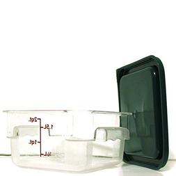 Tiger Chef Food Storage Square Polycarbonate Containers with