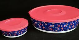 FREE SHIP Tupperware Falling for Floral Set 10.5 & 1.25 Cup
