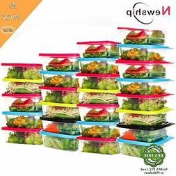 Freezer Storage Containers -Square Disposable Plastic Food..