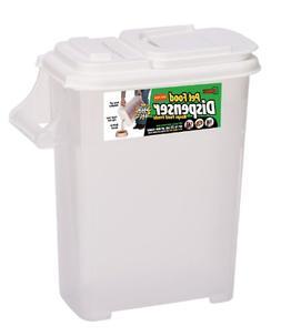 Pet Food Storage Container Dispenser Medium Plastic Dog Cat