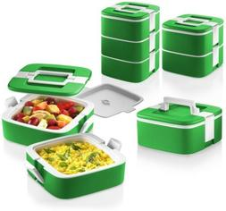 Ozeri FS3-G Thermomax Stackable Lunch Box and Double-wall In