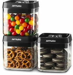 Gourmia GEC9795 Airtight Food Storage Containers, 3 Pack, 1