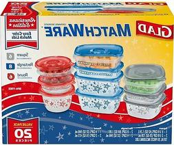 Glad Food Storage Containers - Glad Match Ware Variety Pack