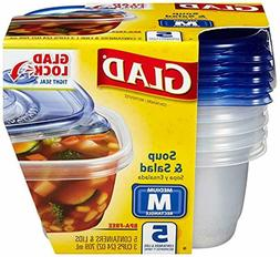 Glad Food Storage Containers -Soup and Salad Containers 24 O