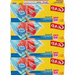 Glad Zipper Food Storage Freezer Bags - Gallon - 160 Count *