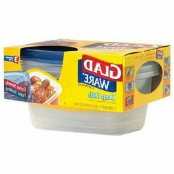 Gladware Deep Dish Containers With Lids, 8 Cups  3 Container