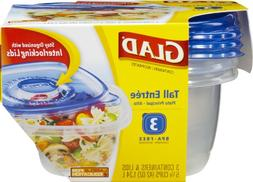 Glad Food Storage Containers - Tall Entree Container - 42 Ou