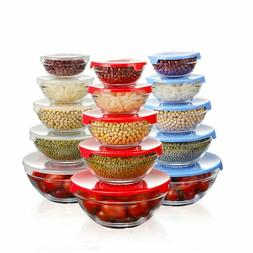 Glass Container For Kitchen Food Storage with Snap Locking L
