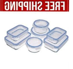 glass food pantry storage containers meal prep