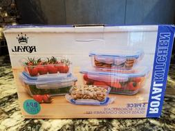 Royal Glass Food Storage 5 piece with Lid