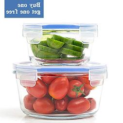 Glass Food Storage Container with Lid - Glass Meal Prep Cont