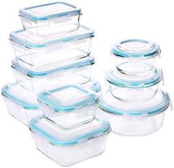 Utopia Kitchen Glass Food Storage Container Set 18 Pieces