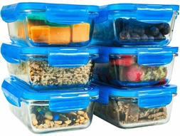 Elacra Glass Food Storage Containers  - Glass Meal Prep Cont