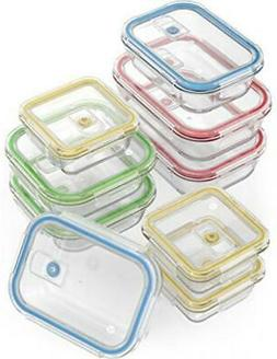 Vremi 18 Piece Glass Food Storage Containers with Locking Li