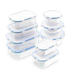 Royal Glass Food Storage Containers - 18-Piece Set - BPA Fre