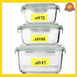 Extra Large Glass Food Storage Containers with Airtight Lid