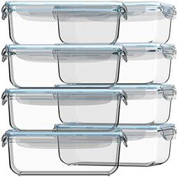 Glass Food Storage Containers Airtight Meal Prep Leak Proof