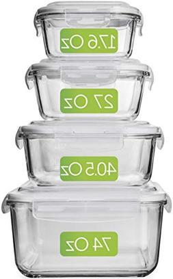 Large Glass Food Storage Containers with Lids - Glass Storag