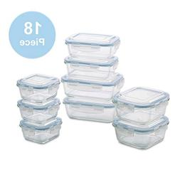 1790 Glass Food Storage Containers - 18 Piece - BPA Free - D