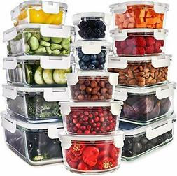 Prep Naturals Glass Food Storage Containers Leak Proof Dishw