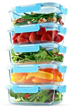 1 Compartment Glass Food Storage Containers - Meal Prep Cont