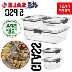 Glass Food Storage Containers Meal Prep Lunch Boxes With Lid