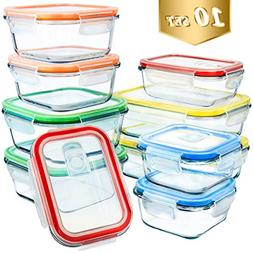 Glass Food Storage Containers,MCIRCO Glass Meal Prep Contain