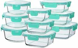 Bayco Glass Food Storage Containers with Lids,  Glass Meal P