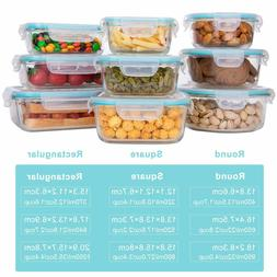 Glass Food Storage Containers with Lids,  Glass Meal Prep Co