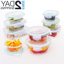 Glass Food Storage Containers with Lids, 18 Pieces Glass Mea