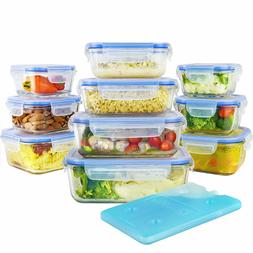 Glass Food Storage Lunch Containers Set with Airtight Lockin