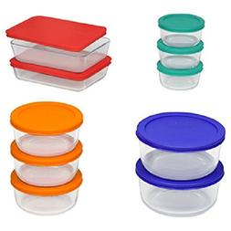 Pyrex 20 Pieces Glass Food Storage Set Bakeware Bowls with L