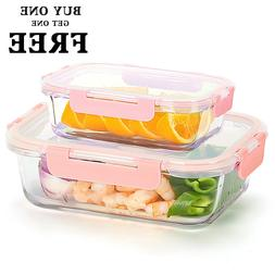 Glass Lunch Containers  Food Storage Container with Lids