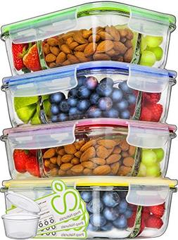Glass Meal Prep Containers 3 Compartment - Food Containers M