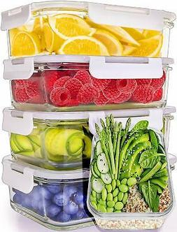 Prep Naturals Glass Meal Prep Containers 5-Pack30oz - Glass