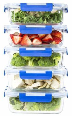 36 Oz. Glass Meal Prep Containers with Lifetime Lasting Sna