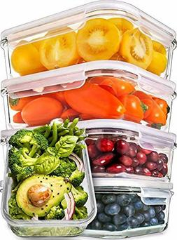 Prep Naturals Glass Meal Prep Containers Food Prep Container