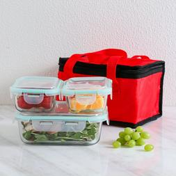Glass Meal Prep Containers Glass Food Storage with Lids Lunc