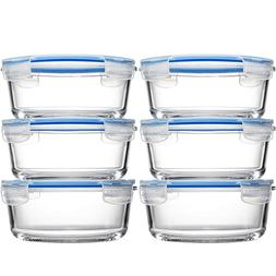 Glass Meal Prep Food Storage Containers  Oven Safe Portion C