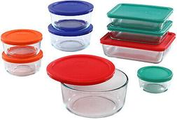 Pyrex Glass Rectangular & Round Food Container Set