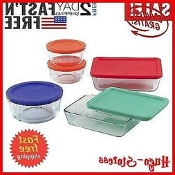 Pyrex Glass-Storage Containers with Lids 10-pcs Storage Set