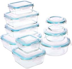 Glass Tupperware Set Containers Compartment Food Safe Lids K