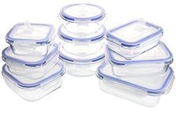 Glasslock Elements 18 Piece Oven Safe Glass Food Storage Con