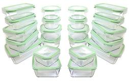 Kinetic GoGreen Glassworks 55120 44-Piece Oven Safe Glass Fo