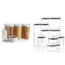 OXO Good Grips 10-Piece POP Container Set, White and OXO Goo