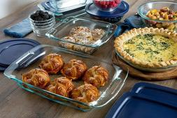 grab glass bakeware and food storage set