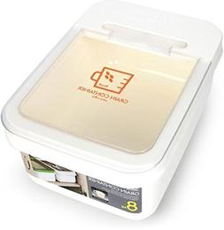 Lock & Lock Grain Container Storage Bin, HPL530WT, 10-L, 8-K